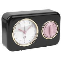 Zegar stojący nostalgia black z timerem kuchennym by marki Pt,