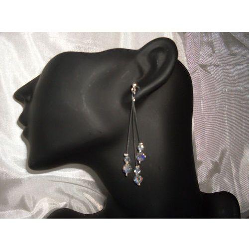 K-00016 Kolczyki z kryształkami Swarovski - w kolorze kryształu, 14-03-11
