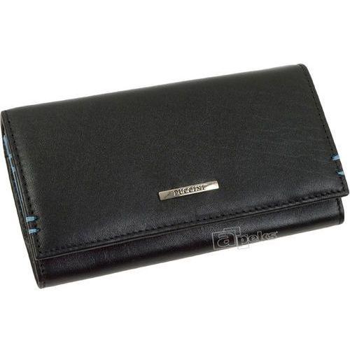 ad705582037f8 Royal blue i-1958 1/7 portfel skórzany damski - czarny ||niebieski ...