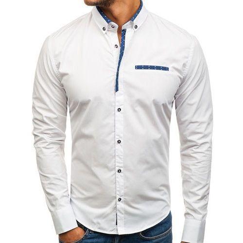 ff80d7b18a2bdb Koszula męska elegancka z długim rękawem biała 8802 (BOLF) - sklep ...