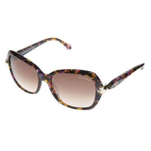 Roberto cavalli okulary przeciwsłoneczne różowy brązowy uni