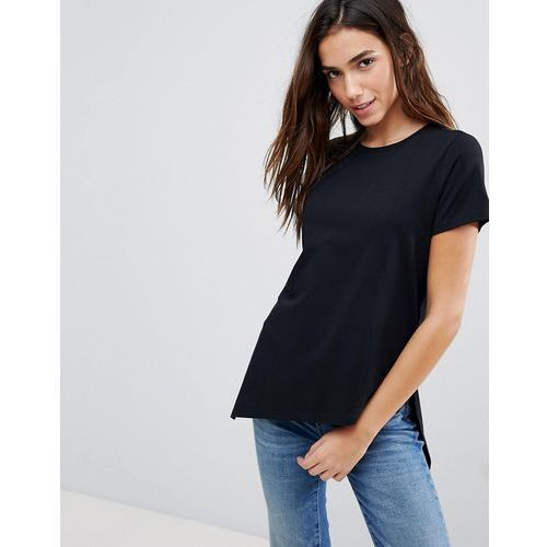 1c3613a5 Asos t-shirt with wrap step hem - black, Asos design - emodi.pl moda ...