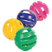 TRIXIE kolorowe piłeczki z dzwoneczkiem dla kota 4cm 4szt.