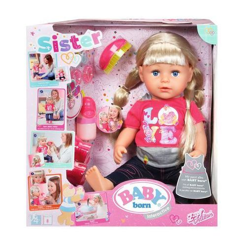 Baby born lalka interaktywna siostrzyczka 43 cm 820704