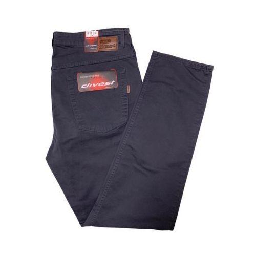 Divest spodnie długie materiałowe szare Model 554 130/33 Szary Bawełna / Lycra