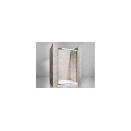 FA402 Drzwi przesuwne 100x195, szkło transparentne powłoka Easy Clean