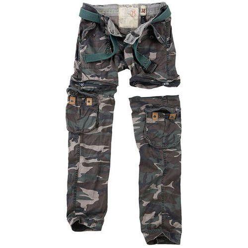 spodnie damskie bojówki trekking premium 2w1 woodland - woodland marki Surplus