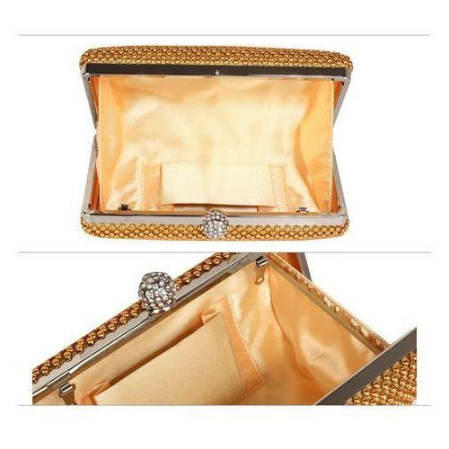 b2ed82b36d3dc Złota torebka wizytowa z drobnych koralików - złoty (Wielka Brytania ...