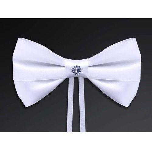 Party deco Kokardy z aplikacją białe - 14 cm - 4 szt. (5901157455659)