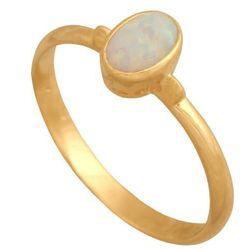 Złoty pierścionek naturalny kamień Opal Pk563o