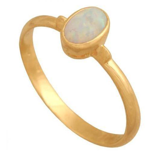 Złoty pierścionek naturalny kamień Opal Pk563o (5900025354889)