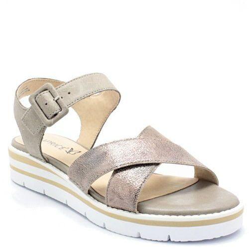 9-28700-20 beżowe - wygodne sandały marki Caprice