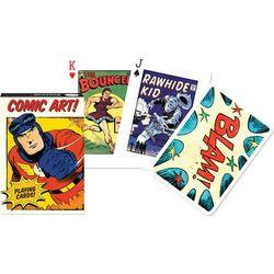 Karty do gry 1 talia, vintage comic art. marki Piatnik