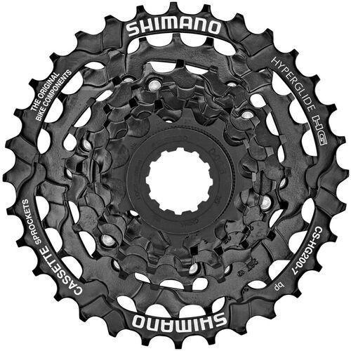Shimano cs-hg200 kaseta rowerowa 7-rzędowa 12/14/16/18/21/26/32 zębów 12-32t 2020 kasety (4524667393962)