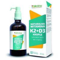 Witamina K2 MK-7 z natto + D3 krople (MyVita) 20ml
