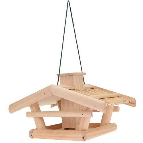 Karmnik dla ptaków - drewniany domek