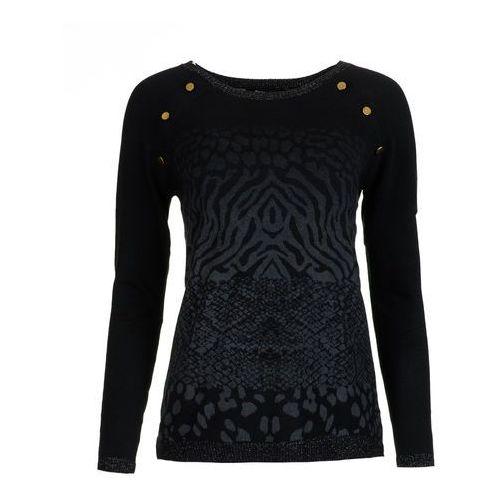 Desigual sweter damski Gaea XS czarny