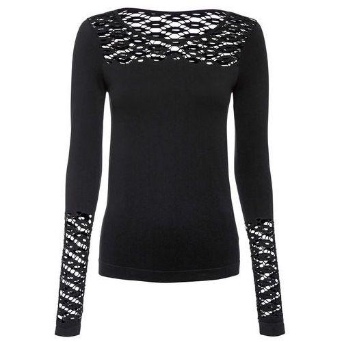 Bonprix Shirt beżowo-czarny