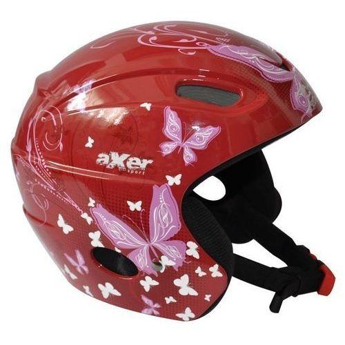Kask narciarski alison czerwony (rozmiar m) + Axer sport