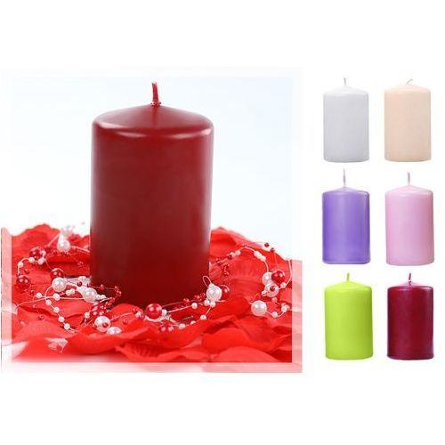 Świece klubowe pieńki matowe 100/65 x 6szt / różne kolory, SKPMAT-000-OP