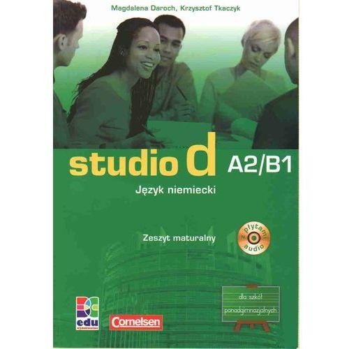 Studio d A2/B1 język niemiecki zeszyt maturalny z płytą CD (9788361059981)
