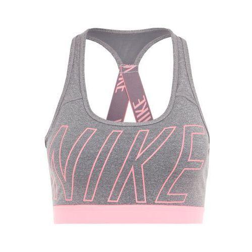Nike Performance PRO CLASSIC Biustonosz sportowy carbon heather/dark grey/lava glow