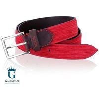 Czerwony pasek do spodni męski miguel bellido casual/sport 675-35-2341-12-013