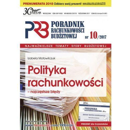 Polityka rachunkowości - najczęstsze błędy - Izabela Motowilczuk