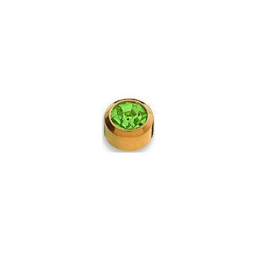 Kolczyk Peridot w oprawie pełnej kolor złoty+ R208Y
