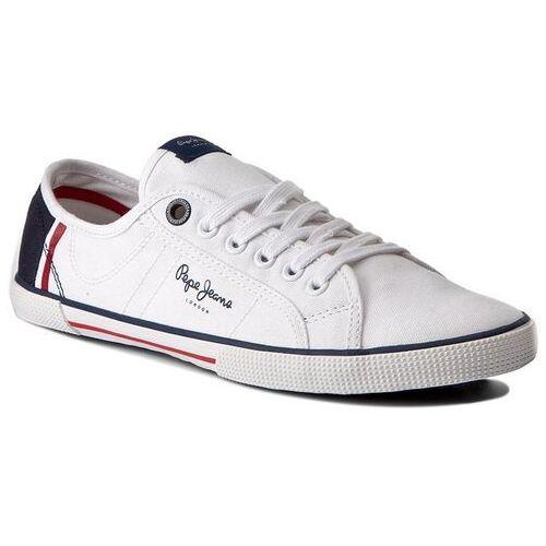 Pepe jeans Tenisówki - aberman print pms30354 white 800