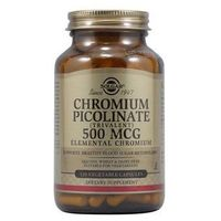 SOLGAR Chromium Picolinate (Pikolinian Chromu) 500mcg - 120 kapsułek wegetariańskich