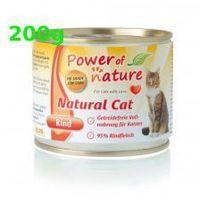 Power of nature wołowina 200g rind natural cat bezzbożowa grain free