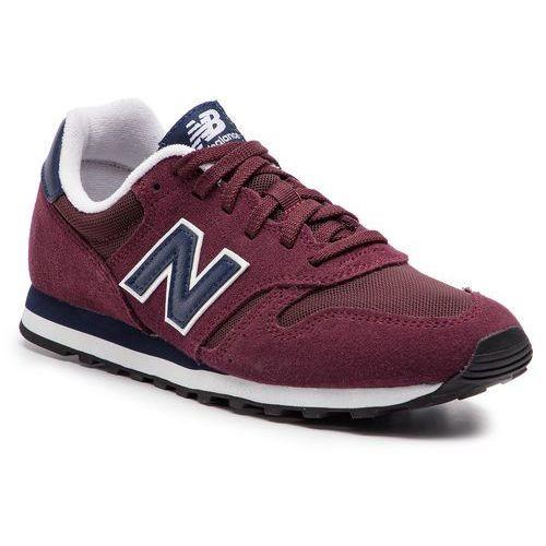 Sneakersy - ml373pbg bordowy marki New balance