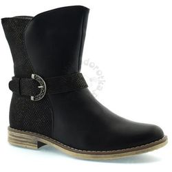 Buty zimowe dla dzieci American Club 1614E, kolor czarny