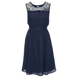 Sukienka wieczorowa z cekinami bonprix niebieski, kolor niebieski