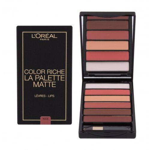L´Oréal Paris Color Riche La Palette Matte pomadka 6 g dla kobiet Nude - Niesamowita obniżka
