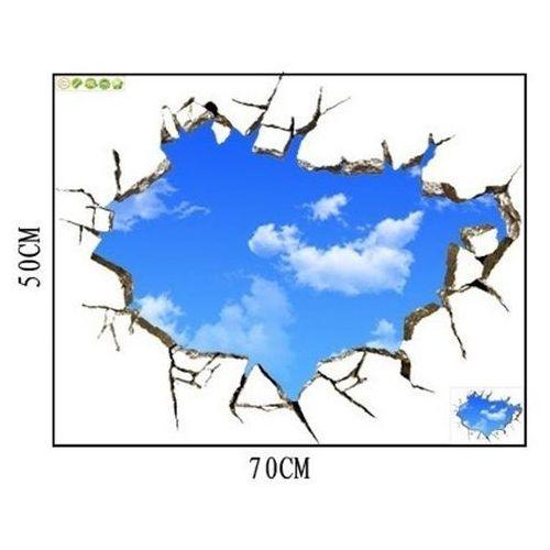 Naklejka na ścianę blue sky 3d 50 x 70 marki Apte
