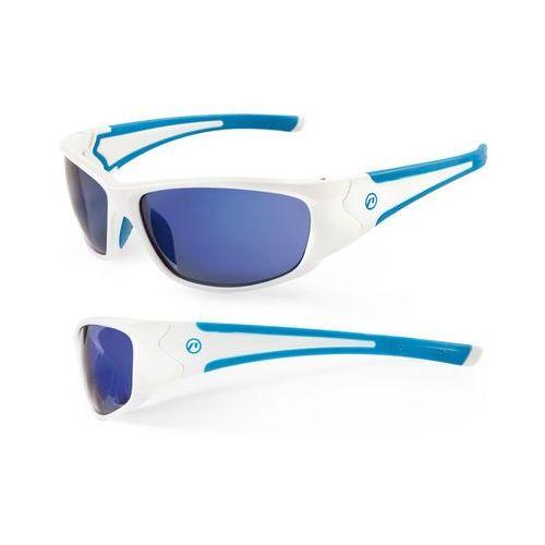 610-40-81_ACC Okulary ACCENT Freak biało-niebieskie, kolor biały
