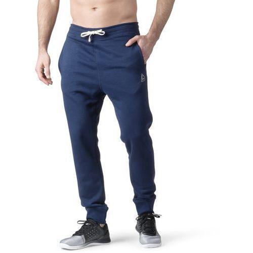 63f0dd63e Spodnie dresowe Reebok French Terry Cuffed Pant BK5053, kolor niebieski - 1