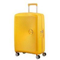Soundbox walizka średnia renomowanej marki 4 koła zamek szyfrowy tsa materiał 100% polipropylen możliwość poszerzenia marki American tourister