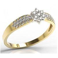 Pierścionek z żółtego i białego złota lp-5828zb-r marki Węc - twój jubiler