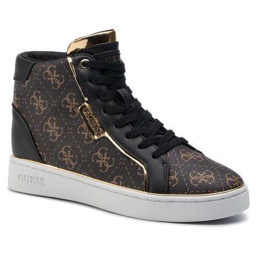 Sneakersy GUESS - FL7BRN FAL12 BRBLK, kolor biały