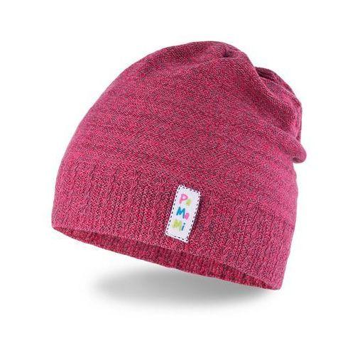 Wiosenna czapka dziewczęca - czerwony - czerwony marki Pamami