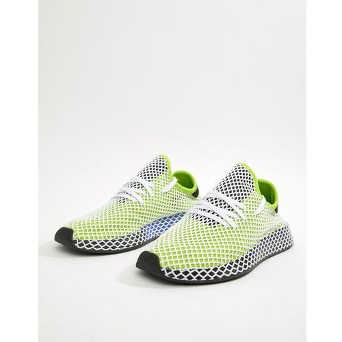 Adidas originals deerupt runner trainers in green b27779 - green