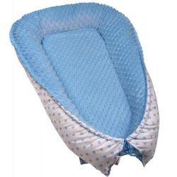 T-tomi gniazdko niemowlęce MINKY, White blue dots