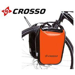Crosso Co1010.30.84 sakwy rowerowe dry small 30l pomarańczowe zestaw na tył / przód