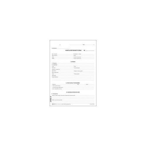 Firma krajewski Karta ortodontyczna - ryza 100 szt [mz/st-10]