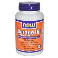 NOW Foods Borage Oil 1050 mg- Ogórecznik lekarski, 60 tabl
