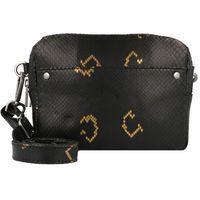 Cowboysbag Bobbie Torba z paskiem na ramie skórzana 20 cm snake black/gold ZAPISZ SIĘ DO NASZEGO NEWSLETTERA, A OTRZYMASZ VOUCHER Z 15% ZNIŻKĄ