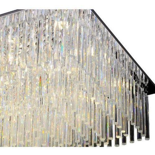 Plafon Lampa Sufitowa Euphoria 5971928 Oprawa Kryształowa Led 57w Crystal Prostokątna Przezroczysta Spotlight